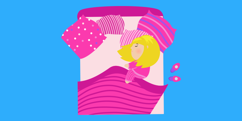 Goldilocks asleep dreaming about adwords bidding and yummy oatmeal