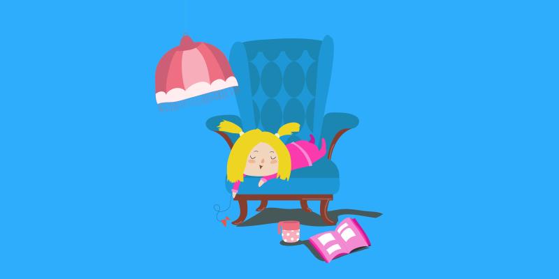 Goldilocks lounging in a big chair