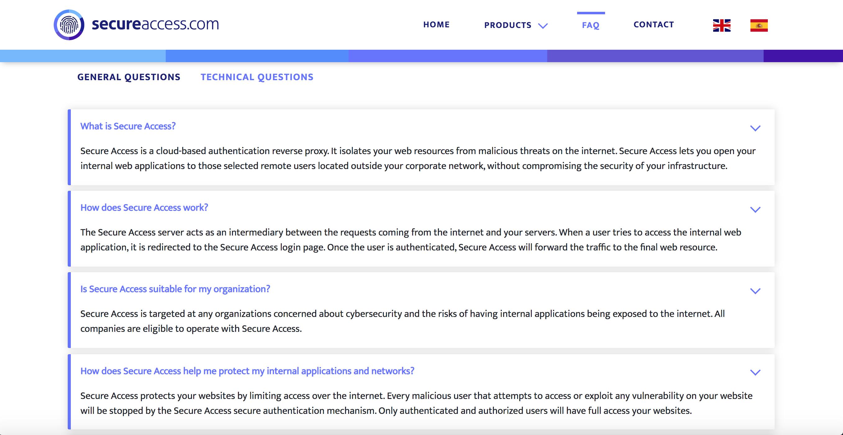 SecureAccess FAQs