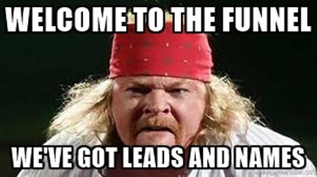 Marketing funnel meme