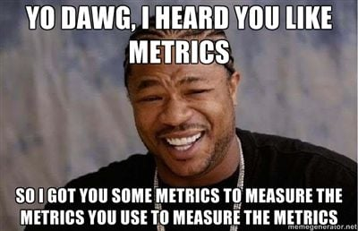 SaaS marketing metrics meme