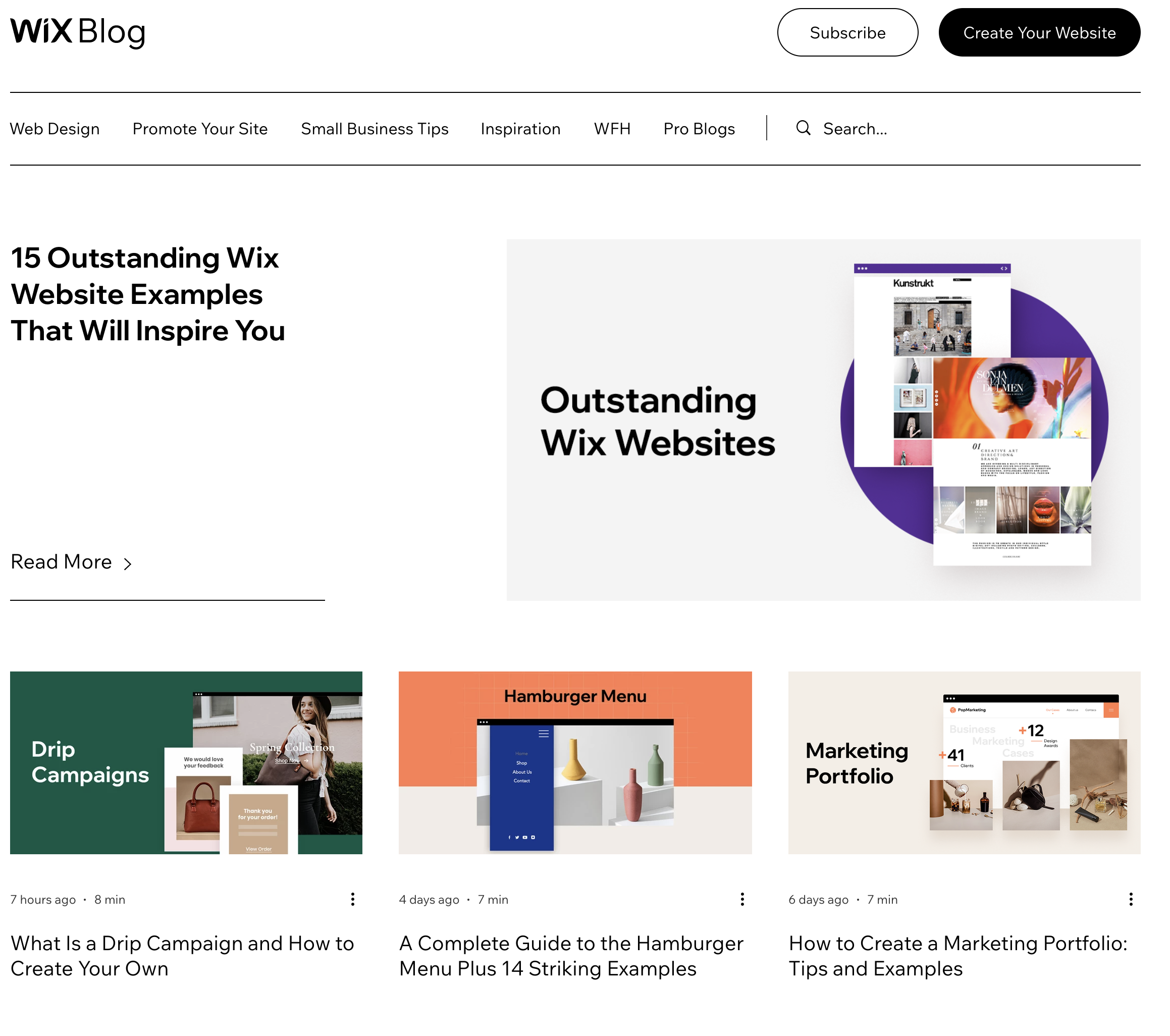 Wix Blog Example